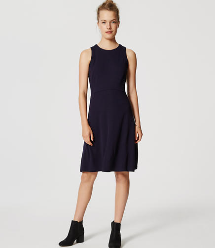 Image of Doubleface Flare Dress