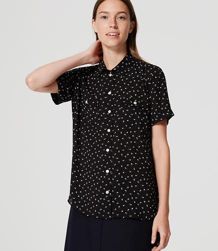 Image of Short Sleeve Utility Blouse