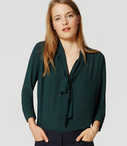 Image of Petite Bow Blouse