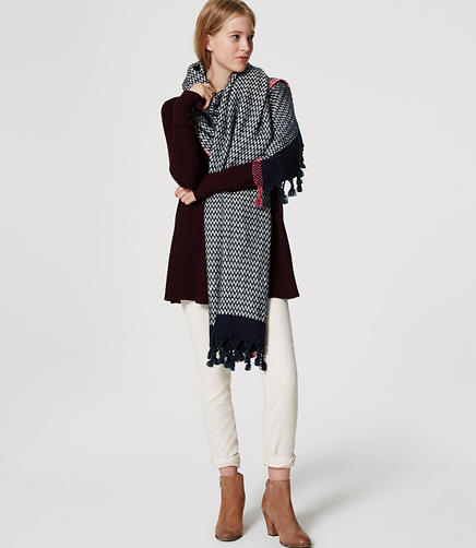Image of Chevron Tassel Scarf