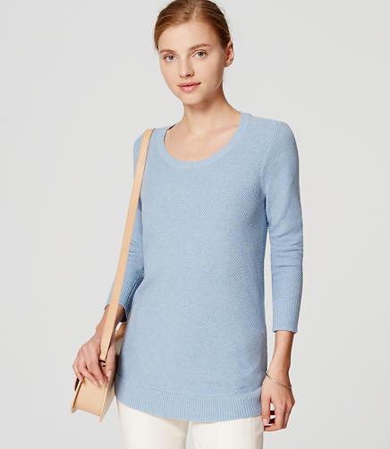 Image of Shirttail Tunic Sweater