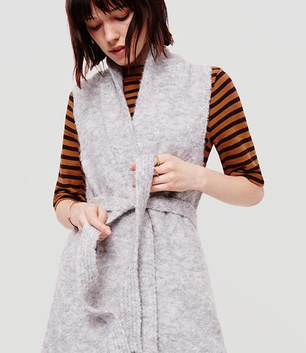 Image of Lou & Grey Cloud Boucle Tie Vest