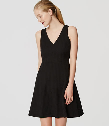 Image of Textured Flare Dress