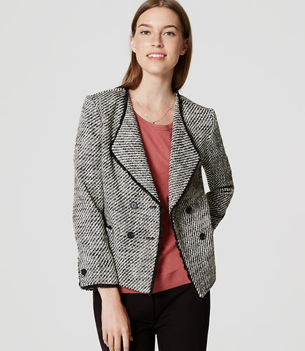 Image of Double Breasted Tweed Jacket