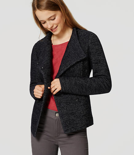 Image of Petite Pebbled Knit Peacoat