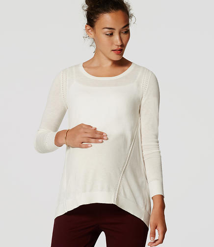 Image of Maternity Stitched Tunic Sweater