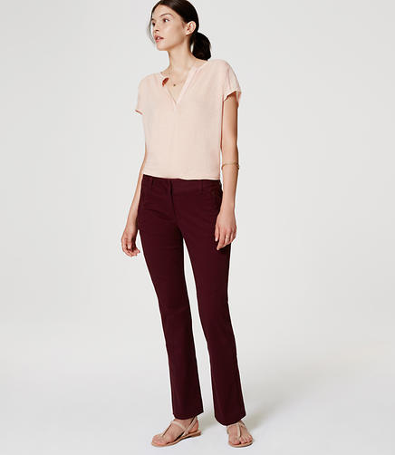 Image of Petite Boot Cut Sanded Sateen Chinos in Julie Fit