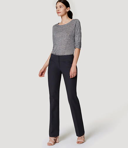 Image of Petite Pintucked Straight Leg Pants in Julie Fit