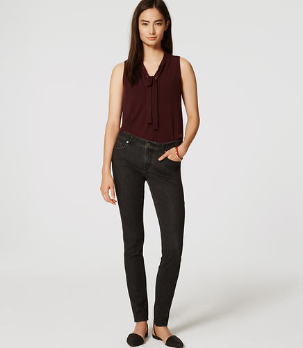 Image of Petite Modern Skinny Jeans in Dark Grey Wash