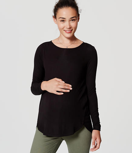 Maternity Seamed Shirttail Tee