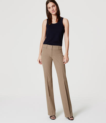 Image of Petite LOFT Custom Stretch Trousers in Marisa Fit
