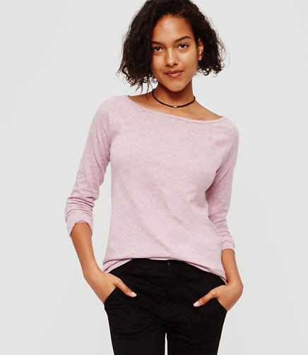 Image of Lou & Grey Airy Cotton Boatneck Tee