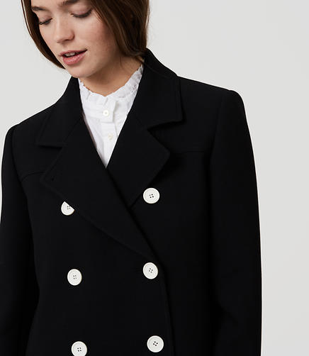 Image of Back Pleat Peacoat