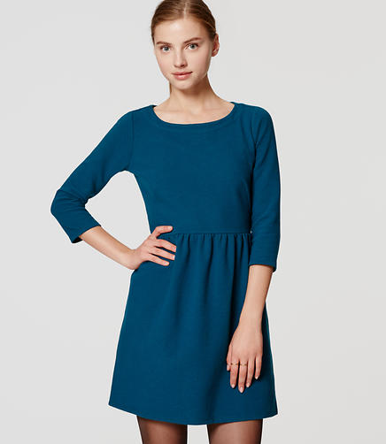 Image of 3/4 Sleeve Ottoman Flare Dress