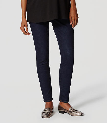 Image of Maternity Denim Leggings in Rinse Wash