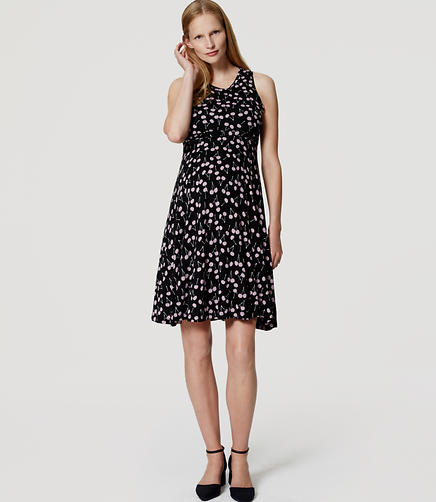 Image of Maternity Cherry Flare Dress