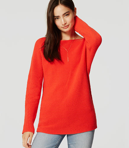 Image of Petite Ribbed Dolman Sweater