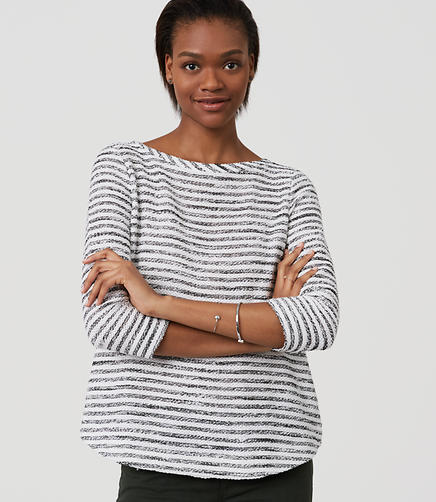 Image of Textured Stripe Top