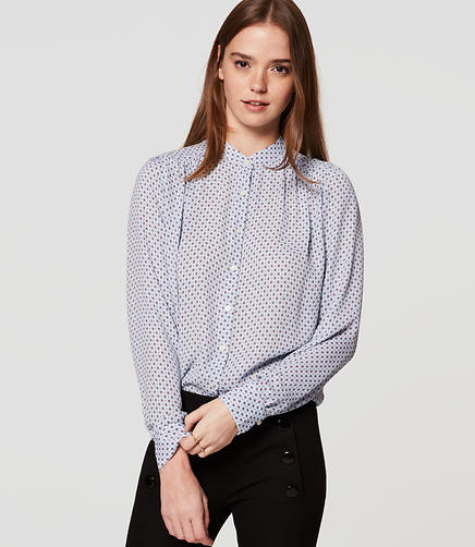 Image of Diamond Puff Sleeve Blouse