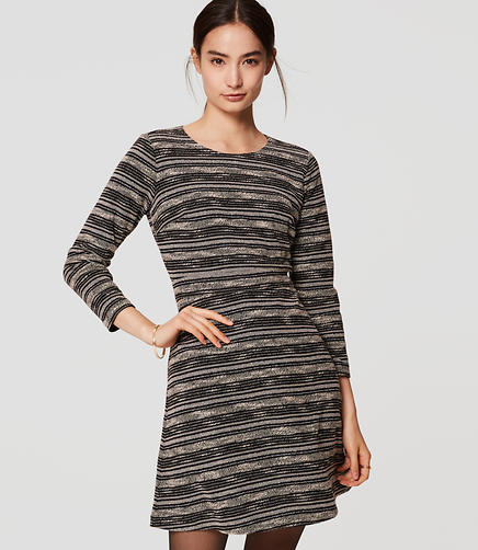 Image of Spacedye Stripe Flare Dress