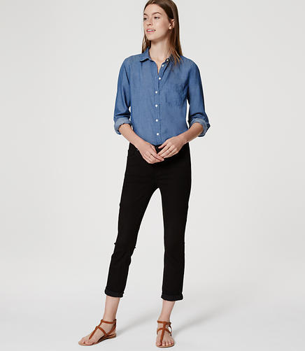 Image of Skinny Crop Jeans in Black