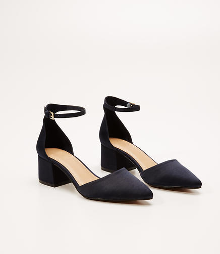 Image of Satin Ankle Strap Heels