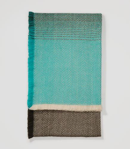 Image of Herringbone Blanket Scarf