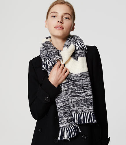 Image of Marled Stripe Scarf