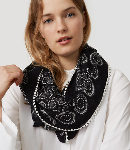 Image of Chantilly Dot Infinity Scarf