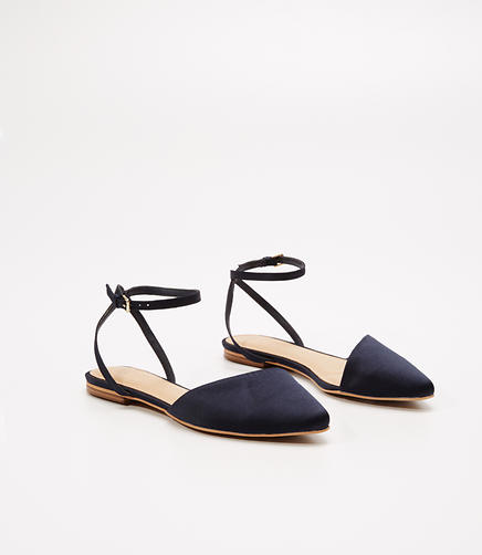 Image of Satin D'Orsay Flats