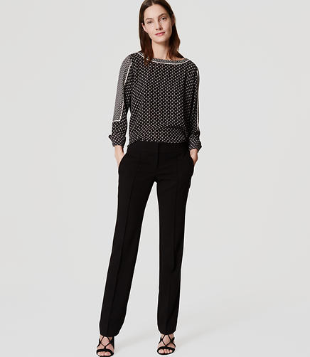 Image of Pintucked Straight Leg Pants in Marisa Fit