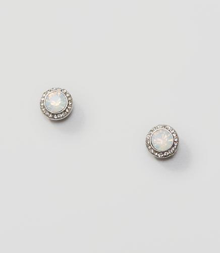 Image of Pave Crystal Stud Earrings