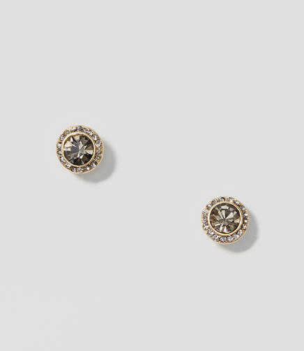 Image of Pave Crystal Stud Earrings