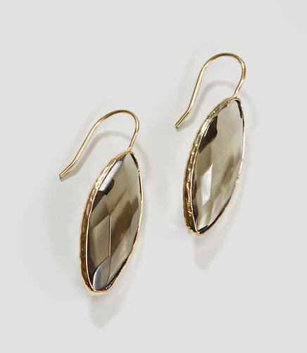 Image of Faceted Stone Drop Earrings