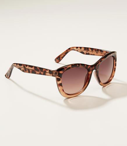Image of Ombre Tortoiseshell Print Cateye Sunglasses
