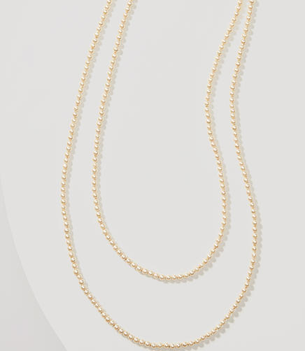 Image of Extra Long Pearlized Necklace