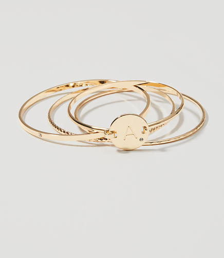 Image of Initial Bangle Set