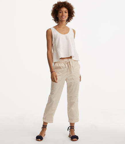 Image of Lou & Grey Wide Leg Poplin Pants
