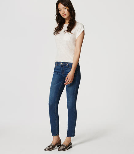 Image of Modern Slim Ankle Jeans in Original Medium Stonewash