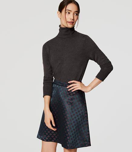 Image of Petite Shimmer Floral Jacquard Skirt