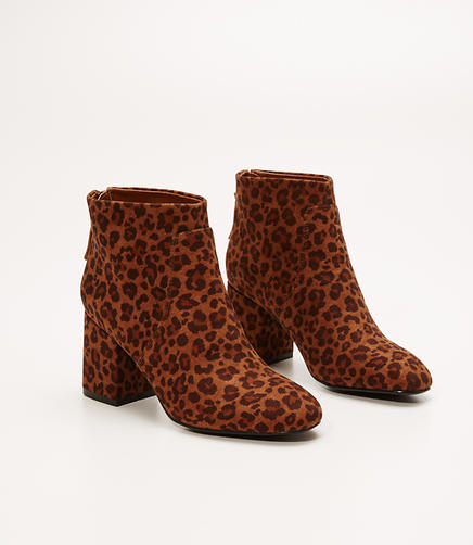 Image of Leopard Print Ankle Boots
