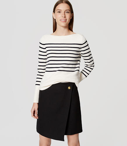 Image of Striped Boatneck Sweater