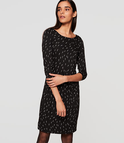 Image of Geo Side Shirred Dress