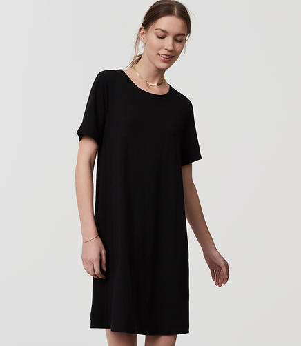 Image of Short Sleeve Swing Dress