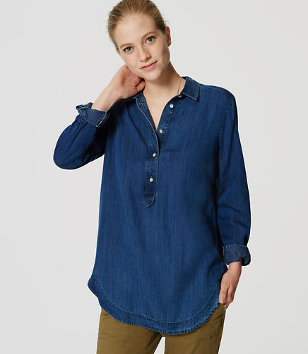 Image of Chambray Collared Tunic
