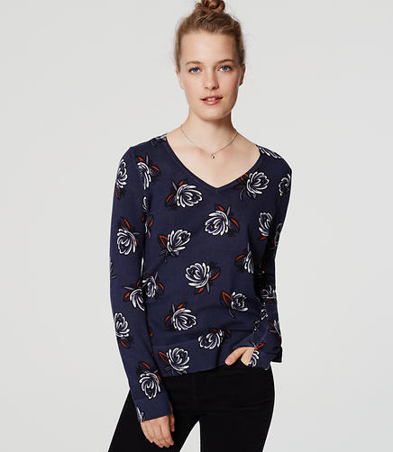 Image of Shadow Floral Refined Sweater