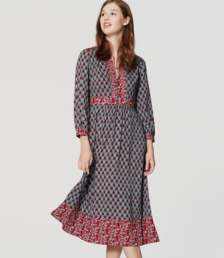 Image of Tall Autumn Bloom Midi Dress