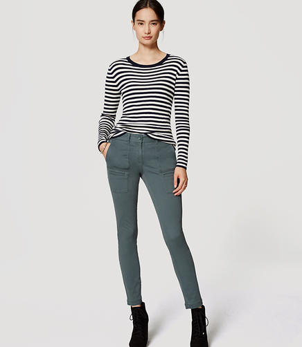 Image of Petite Sanded Sateen Cargo Pants