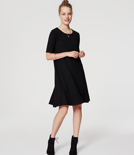 Image of Petite Short Sleeve Swing Dress