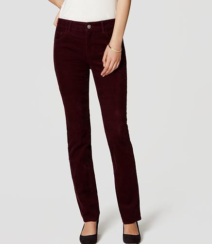 Image of Curvy Straight Leg Corduroy Pants